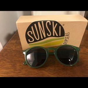 Sunski Dipseas Polarized Sunglasses, Green